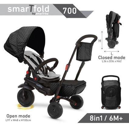 Велосипед Smart Trike 8в1 SmarTfold 700 Red (от 6 месяцев, мегакомпактный, вес 7.5 кг)